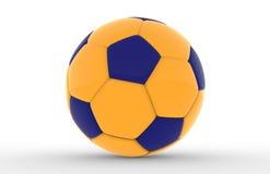 Gele voetbalbal Stock Foto