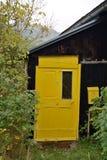 Gele voordeurlichten - detail stock afbeelding