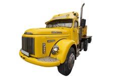Gele Vrachtwagen Stock Afbeeldingen