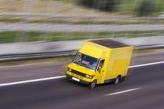 Gele vrachtwagen Stock Foto