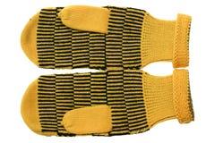 Gele vuisthandschoenen Stock Afbeeldingen