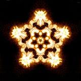 Gele vuurcaleidoscoop Stock Afbeelding