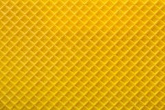 Gele wafeltje geweven oppervlakte stock fotografie