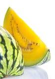Gele watermeloen stock foto's