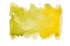 Gele waterverfvlek Royalty-vrije Stock Foto