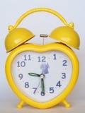 Gele wekker Stock Afbeelding