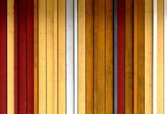 Gele, witte en grijze geschilderde houten textuur als achtergrond met ve Stock Foto
