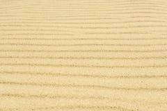 Gele zandtextuur horizontale natuurlijke strepen Stock Foto