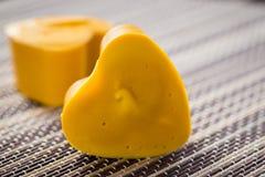 Gele zeepharten stock foto's