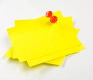 Gele zelfklevende nota's Stock Foto's