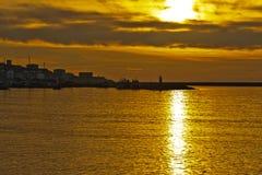 Gele zon Stock Afbeeldingen