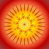 Gele zon, vectorillustratie Royalty-vrije Stock Foto's