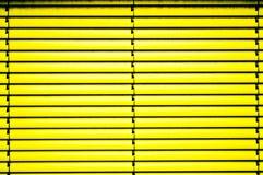 Gele zonneblinden Stock Foto's