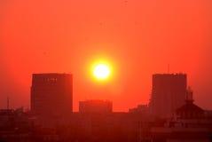 Gele zonneschijn in oude buc Stock Afbeeldingen