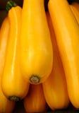Gele zucchinies Stock Afbeeldingen