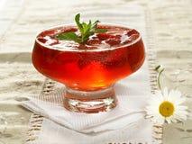 Gelee mit Erdbeere Lizenzfreies Stockfoto