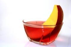 Gelee mit Mangofrucht stockbild