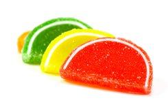 Gelee-Süßigkeit-Scheiben stockbilder