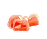 Gelee-Süßigkeiten auf weißem Hintergrund Stockfotografie