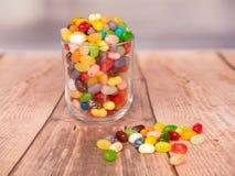 Geleebonbons in einem Glas lizenzfreies stockfoto