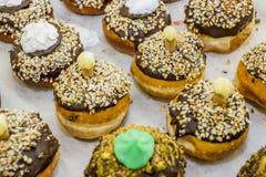 Geleedonut/sofgania - jüdischer Feiertag Chanukka Stockfotografie