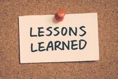 Geleerde lessen Stock Foto