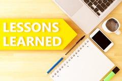 Geleerde lessen stock illustratie