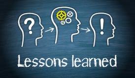 Geleerde lessen - Onderwijs en Kennisconcept royalty-vrije illustratie