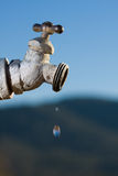 Geleerter Wasser-Hahn stockfotografie
