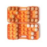 2017 gelegde kippeneieren in container Stock Foto's