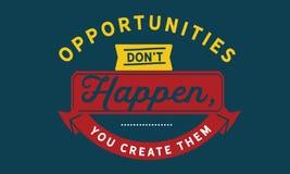 Gelegenheiten, die don't, Sie geschehen, stellen sie her stock abbildung