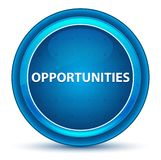Gelegenheiten schauen blauen runden Knopf an lizenzfreie abbildung