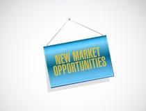 Gelegenheits-Fahnenzeichenkonzept des neuen Markts Lizenzfreies Stockbild