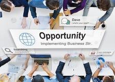 Gelegenheits-Möglichkeits-auserlesenes Entwicklungs-Konzept stockfotografie