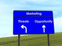 Gelegenheits-und Drohung-Zeichen Lizenzfreie Stockfotos