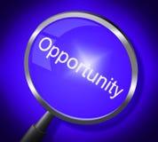 Gelegenheits-Vergrößerungsglas-Durchschnitt-Suche vergrößern und Möglichkeiten Stockfoto