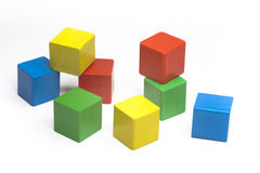 Gelegentliche farbige Würfel Lizenzfreies Stockfoto