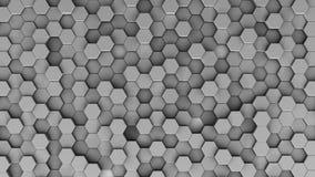 Gelegentliche Wiedergabe der Position 3d des Hexagons Stock Abbildung