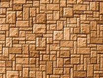 Gelegentlicher Backsteinmauerhintergrund, gelber Aufbau, lizenzfreies stockbild