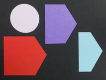 Gelegentlicher Plan von geometrischen Formen Lizenzfreie Stockfotos
