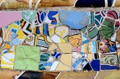 Gelegentliches Mosaik-Muster - Gaudi Stockfotografie