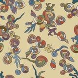 Gelegentliches Muster der hellen Muscheln Lizenzfreies Stockbild