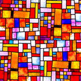 Gelegentliches quadratisches Mehrfarbenmuster Lizenzfreies Stockbild