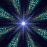 Gelegentliches Sternlicht-Zusammenfassungsradialmuster Stockfotos