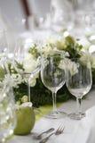 Gelegte Hochzeitstafel Stockfotos
