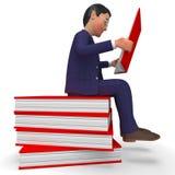 Gelehrte Bildung und Schule Geschäftsmann-Reading Books Meanss Lizenzfreie Stockbilder
