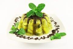 Gelei met kiwifruit royalty-vrije stock foto