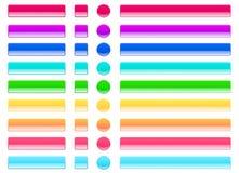 A geleia da Web abotoa cores claras Foto de Stock