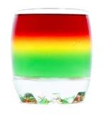 Geleia de fruto em um vidro isolado fotos de stock royalty free