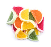 Geleia de fruto isolada Imagens de Stock Royalty Free